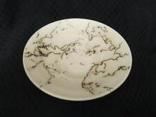 "Hand Crafted White Clay Wheel Thrown HORSEHAIR Pottery 5.5"" Bowl"