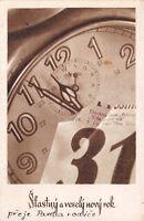 CZECHOSLOVAKIA HAPPY NEW YEAR POSTCARD c1954