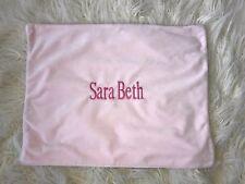 Pottery Barn Kids Sara Beth Light Pink Velvet/Velour Pillow Sham Embroidered