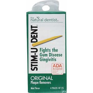 Stim U Dent Plaque Removers Mint 100 Each
