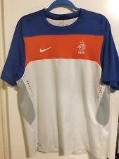 Nike Netherlands Holland Soccer Jersey Shirt Mens L Large Orange