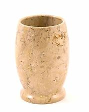 Natural Sahara Beige Marble Bathroom Tumbler Cup Accessory Spa Style Design