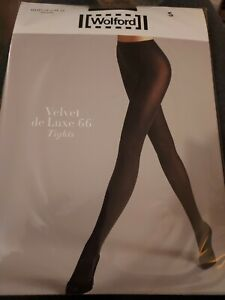 WOLFORD Velvet De Luxe 66 Tights - Small Black