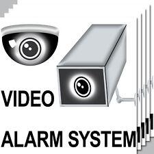 5 Aufkleber 20cm Sticker Video Kamera Alarm System Hinweis CCTV Tür Überwachung
