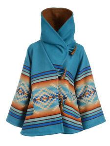 Yellowstone Season 3 Wool Blend Beth Dutton Blue Hooded Kelly Reilly Coat Poncho