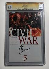 CIVIL WAR #5 CGC 9.8 SS CHRIS EVANS CAPTAIN AMERICA SIGNATURE SERIES AVENGERS 1