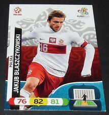 JAKUB BLASZCZYKOWSKI POLOGNE POLSKA FOOTBALL CARD PANINI UEFA EURO 2012