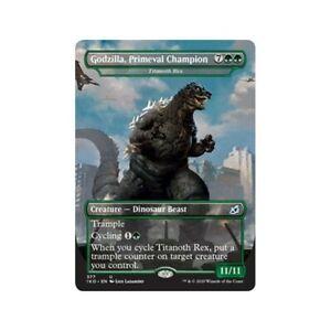 MTG Godzilla Primeval Champion Titanoth Rex Foil Full Art Magic ikoria
