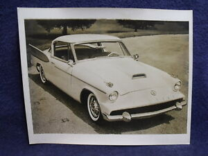 1958 Studebaker Packard Hawk ~ Vintage Original B&W 8x10 Photograph