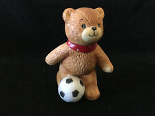 Lucy & Me Soccer Player Bear Kicking Soccer Ball Lucy Rigg Enesco