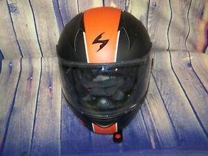 Scorpion EXO-R410 Full Face Motorcycle Helmet Black And Orange Size Large