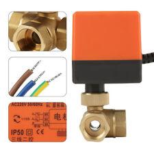 3-Wege G1/2 Zoll DN15 Zonenventil Absperrhahn Kugelventil Elektrisch Ventil 220V