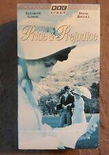 BBC Video Jane Austen's Pride & Prejudice 1985 VHS 19th century English country