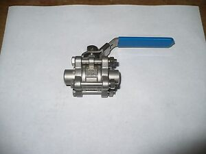 "Conbraco Apollo 3/8"" Socket Weld Ball Valve, 3-piece, 316 SS, 1000WOG, New"
