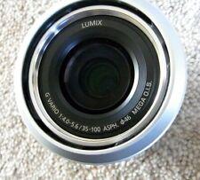 Panasonic Lumix G Vario 35-100 mm F/4.0-5.6 ASPH Silver Mega O.I.S ED Lens M4/3