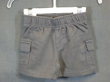 Jumping Beans Newborn Boys Size 3 Months Charcoal Gray Cotton Knit Cargo Shorts