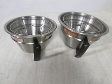 """Lot Of (2) Hd Commercial Ss Brewing Funnels For """"Curtis Gem-612 Ild-10"""" Brewer"""