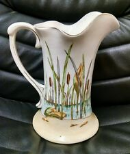 "Fine Art Pottery ""Sand Piper"" Pattern Pitcher, Marked ""HAYNES Ware,""  #422, Nice"