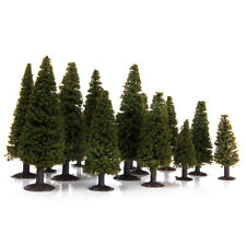 15 Dark Green Model Cedar Tree Train Railway Park Diorama Scenery Ho N Scale