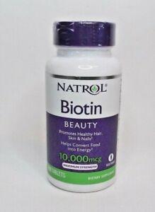 Natrol Biotin Beauty Tablets Promotes Healthy Hair, Skin & Nails 10,000mcg 200Ct