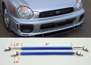 "Blue 4"" Adjustable Rod Tie Support for Honda Acura Bumper Lip Diffuser Spoiler"