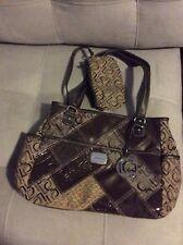 Liz Clairborne excellent condition monogram initial shoulder handbag purse