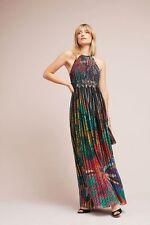 NWT $248.00 Anthropologie Kalinka Maxi Dress By Geisha Designs Sz. 14