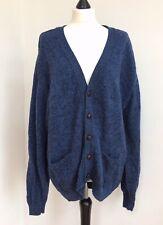 Antartex Ladies Cardigan Blue Marl Wool Oversized Slouchy Autumn Warm VGC Size L