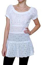 Figurbetonte Damenblusen,-Tops & -Shirts im Tuniken-Stil mit Kurzarm-Ärmelart für Freizeit