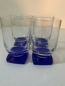 BORMIOLL ROCCO  4  -8 1/2 OZ. JUICE GLASSES MADE IN ITALY