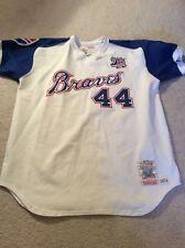 New! MLB Atlanta Braves Vintage Authentic Hank Aaron Throwback Jersey Sz XXL W/T