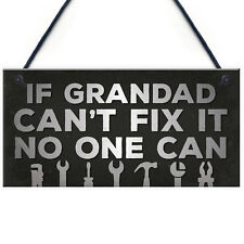 Shed Garage Sign Wall Plaque Workshop Man Cave Grandad Dad Father Birthday Gift