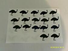 30 x Struzzo/EMU Bird ADESIVI-ottimo per i bambini piccoli ragazzi ragazze Birds