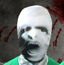Blanco Vampiro diseño 3d Efecto Piel Cara De Lycra Máscara Halloween Terror