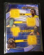 Guardians of the Galaxy Cosmic Strings QUAD Memorabilia Costume card CSQ-7