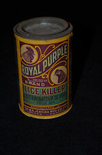 Antique Early 1900s Advertising Can Royal Purple Lice Killer for Chickens