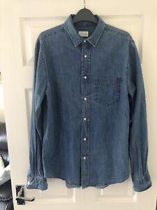 Gant Rugger Men's Denim Long Sleeve Shirt Size Medium M