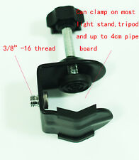 """Photo Studio U Clip Clamp with 3/8""""-16 male thread For Camera Flash Light stand"""