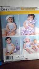 Simplicity 1378 Baby Romper Bitty Baby too Pattern uncut