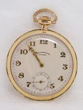Vintage Swiss Solid 14K TEGRA CHRONOMETRE Pocket watch* EXLNT* Great Runner