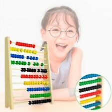 Kids Wooden Bead Abacuss Counting Frame Early Educational Learn Maths Toy