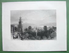 CONSTANTINOPLE State Prison Seven Towers - ALLOM 1840s Original Engraving Print