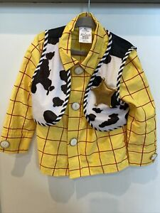 The Disney Store Toy Story Woody Costume Shirt&Vest Toddler Boys Size 3