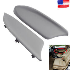 Gray PU Leather Front LR Door Panel Armrest Cover For Honda Accord 08-12 Sedan