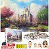 1000 Pieces Rainbow Castle Jigsaw Puzzles Kids Adults Educational Paper Puzzle
