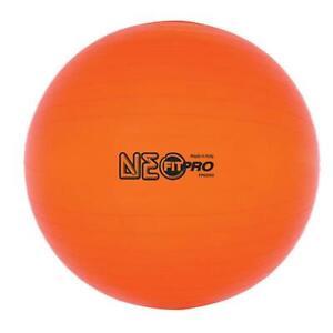 Champion Sports FP65NO 65 cm Fitpro Training & Exercise Ball Neon Orange