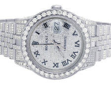 Mens Rolex Datejust 36MM 16014 S.Steel Iced Out  Pave Dial Diamond Watch 14.75Ct