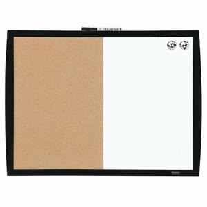 "Quartet Combination Magnetic Whiteboard  Corkboard, 17"" x 23"", Combo White Boar"