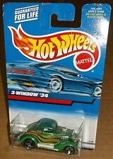 Hot Wheels 2000 Collector #132 3-Window '34 1934 Green Gold Orange 3SPs 27099