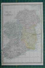 Ireland Vintage Original 1889 Rand McNally World Atlas Map Lot